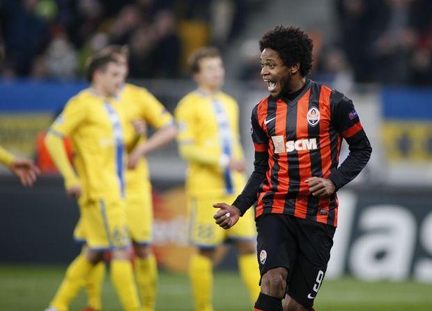 Луїс Адріано забив 8 голів у двох матчах з БАТЕ / Reuters