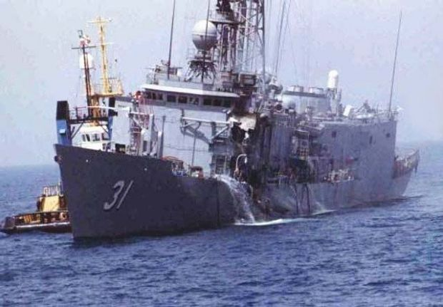 The USS Stark was hit by two Exocet missiles in 1987, in the only ever successful anti-ship missile attack on a U.S. warship.