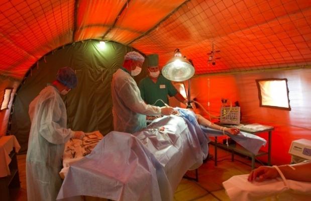 полевой госпиталь / Фото: УНИАН