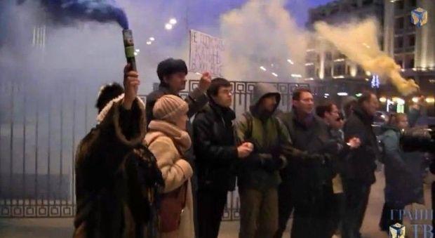 Активисты проводят пикет под Госдумой / Скриншот видео Грани.Ру