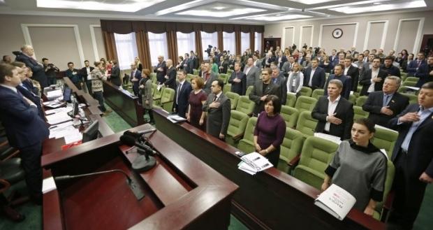Как известно, согласно регламенту Киевского облсовета, кворум насчитывает 43 депутата / фото УНИАН