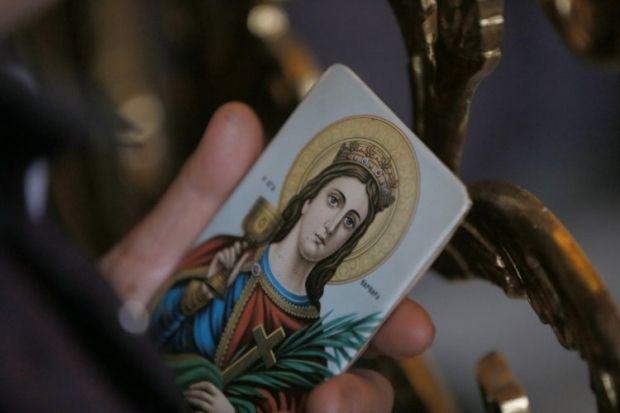 Великомученица Варвара. Владимирский собор. 17 декабря 2014 Фото УНИАН.