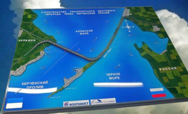 Risultati immagini per kerch bridge map