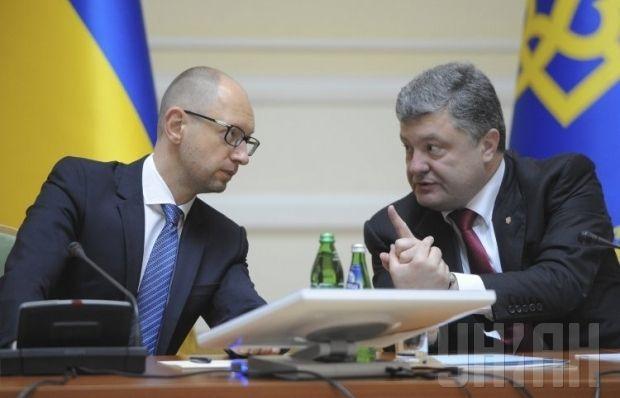 Poroshenko and Yatseniuk gave present a united front / Photo by UNIAN