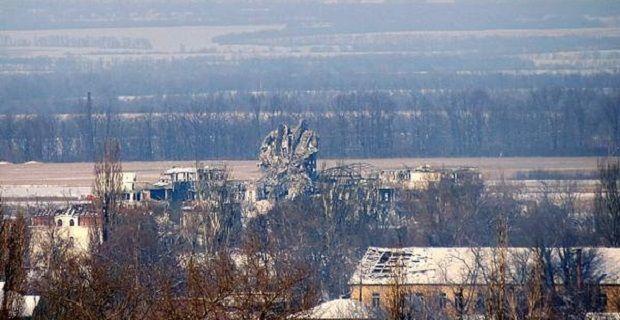 20 января 2015 года боевики подорвали новый терминал ДАП \ Facebook Юрий Йижакевич