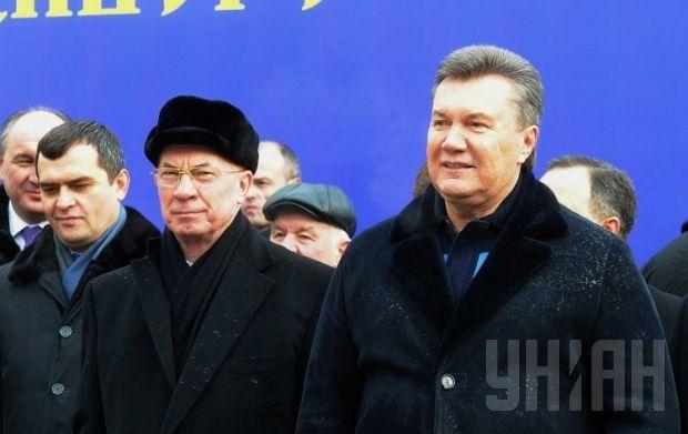 (Right to left) Yanukovych, Azarov, Zakharchenko. Photo by UNIAN