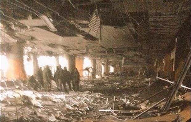 Some of the Ukrainian defenders of Donetsk airport have been wounded / @SputnikATO