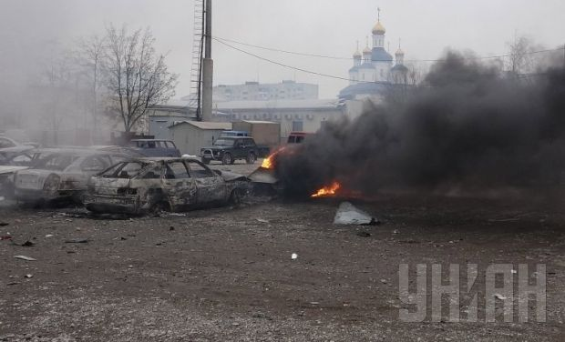 Militants shelled a residential district in Mariupol / Photo by UNIAN