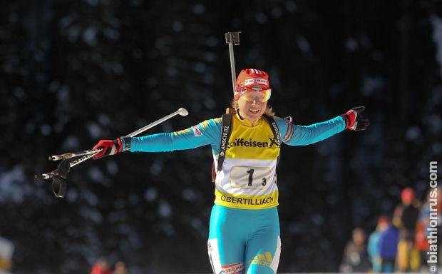 Анастасия Меркушина выиграла золото чемпионата Европы / biathlonrus.com