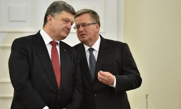 Коморовский говорит, что трудно представить военное решение конфликта / Фото УНИАН
