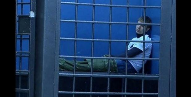 Опубликовано видео Гончаренко в участке / скриншот видео