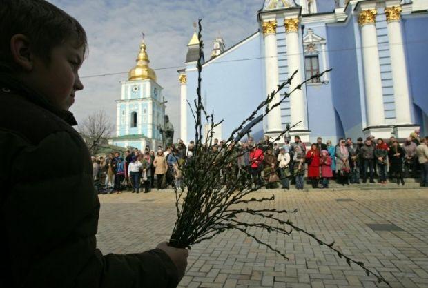 Вербное воскресенье отмечается за неделю до Пасхи / фото УНИАН