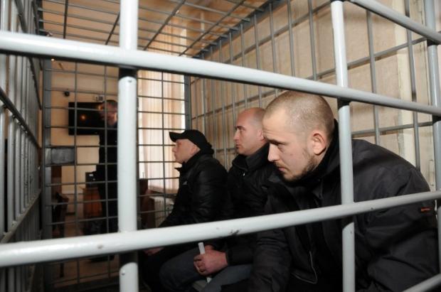 Осужденные за харьковский теракт на суде, 2015 год / Фото УНИАН