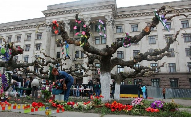 Odesa residents paid homage to victims of May 2, 2014 fire / Photo from UNIAN