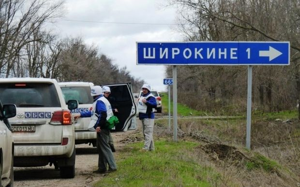 Pro-Russian militants launched firing on Ukrainian troops right after an OSCE mission had left / Photo from facebook.com/ato.news