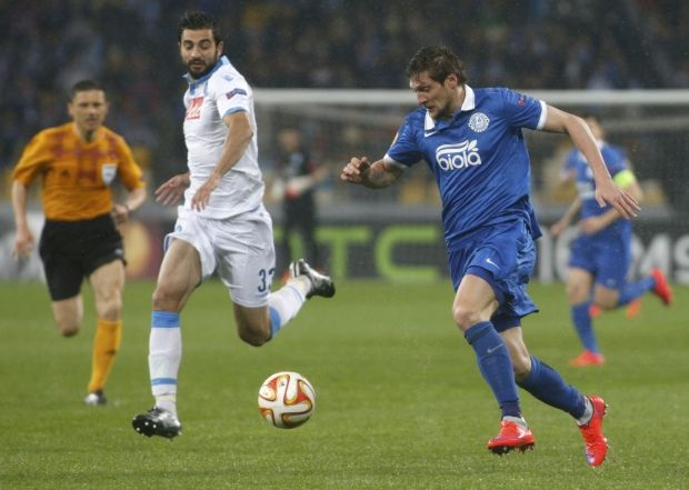 Dnipro striker Yevhen Seleznyov's goal opens the door to the UEFA Europa League final / Photo from Reuters