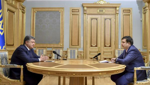 Poroshenko praises Saakashvili / Photo from president.gov.ua