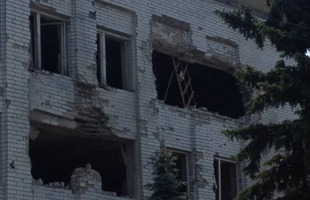 The town of Maryinka after shelling / Vyacheslav Abroskin / facebook.com