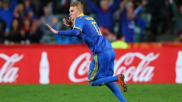 Виктор Коваленко забил победный гол в матче молодежной сборной Украины/ Reuters
