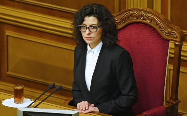 Она напомнила, что голосование по этому вопросу должно состояться сегодня около 11 часов / Фото УНИАН