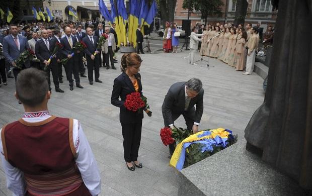 Президент почтил память создателя украинской Конституции \ УНИАН