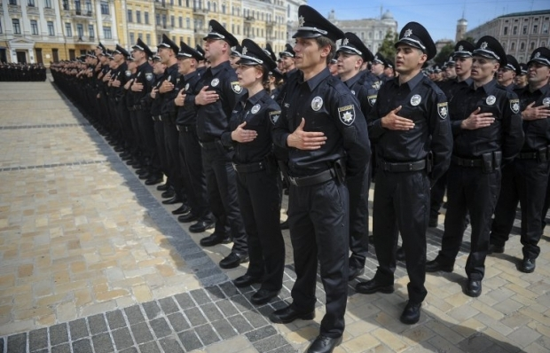 Brand new patrol police started working in Kyiv on July 4 / Photo from UNIAN