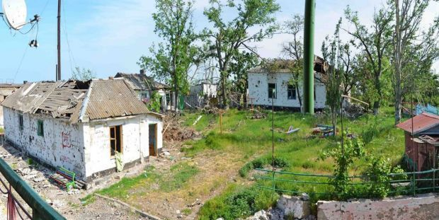 The destroyed village of Shyrokyne / Photo from the press center on Facebook