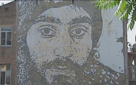 A fresco of Euromaidan activist Serhiy Nigoyan in Kyiv / Photo from UNIAN