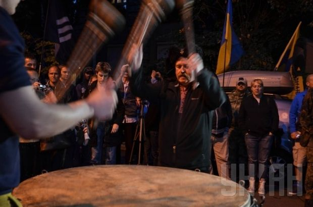 Right Sector rally near presidential administration on July 11 / Photo from UNIAN