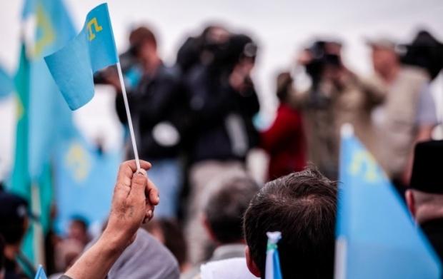 Шість років тому кримські татари вийшли на масовий мітинг проти РФ / фото УНІАН