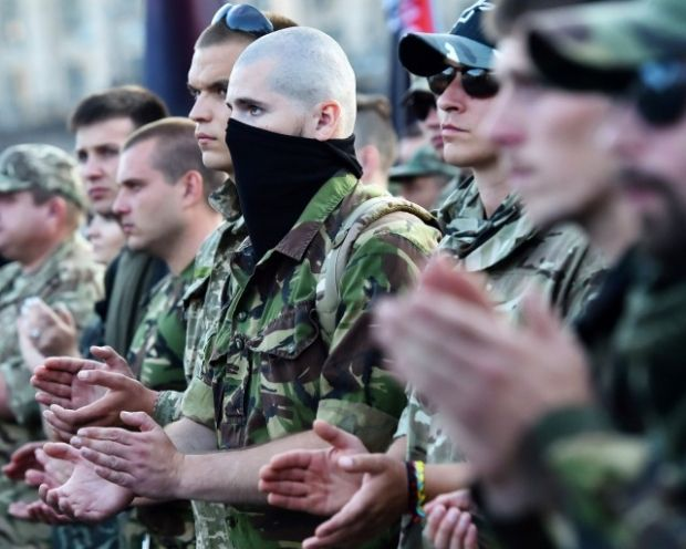 An estimated 3,000-5,000 Right Sector supporters rallied against the Ukrainian government on July 21 / Photo from Stratfor