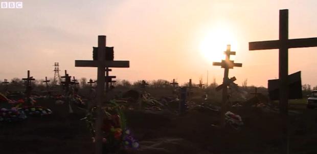 В Полтаве власть на период карантина запретили посещение кладбищ / скриншот видео BBC