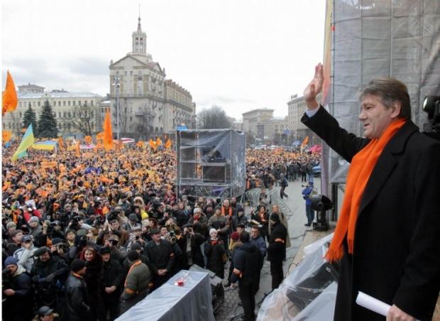 Віктор Ющенко став переможцем президентських виборів у 2004 році
