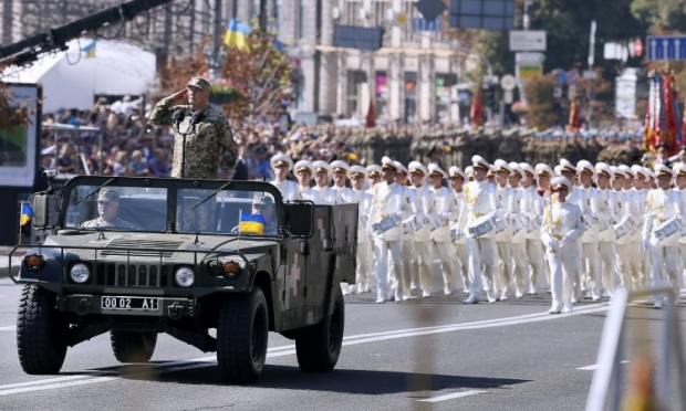 A total of 2,300 servicemen took part in the March of Independence / Photo from UNIAN