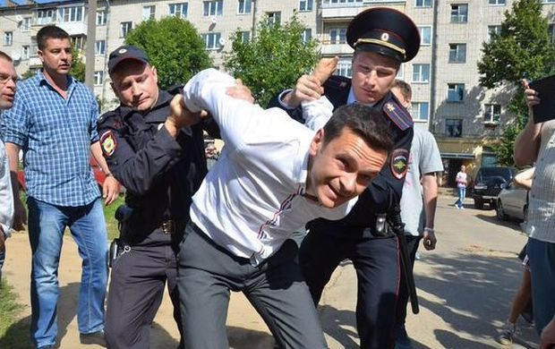 The arrest of Russian opposition leader / twitter.com/IlyaYashin