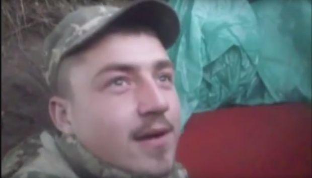 Український солдат зняв відео вибуху снаряду / Скриншот видео