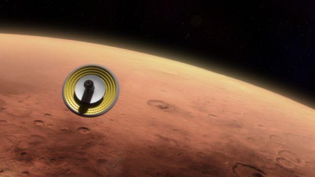 Перхлораты знайдені на Червоній планеті в 2008 році / фото NASA