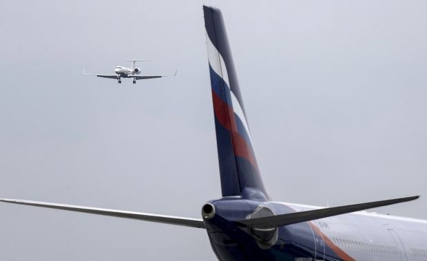 Russia says British officials search Aeroflot flight at Heathrow airport
