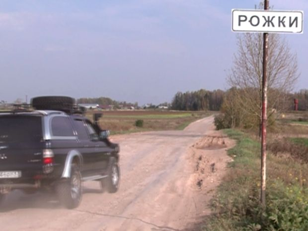 UNIAN journalists drove to Aleksandrov's home village Rozhky / Photo from UNIAN