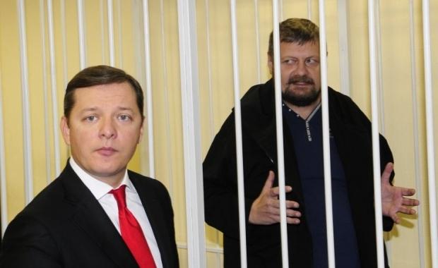 На фото - Олег Ляшко и арестованный Игорь Мосийчук / Фото УНИАН