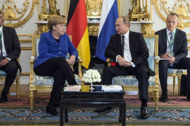 Ангела Меркель и Владимир Путин / фото REUTERS