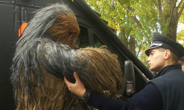 The 'member of the Wookiee species' refused to go to a police station / Photo from 1tv.od.ua