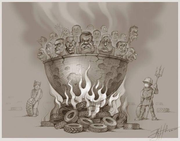 Caricature by Yuriy Zhuravel