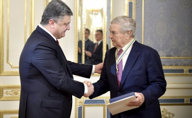 Poroshenko says Soros's International Renaissance Foundation plays a big role in the development of Ukraine / Photo from UNIAN