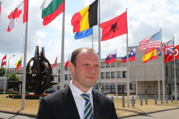 Acting Head of Ukraine's Mission to NATO Yehor Bozhok / nato.mfa.gov.ua