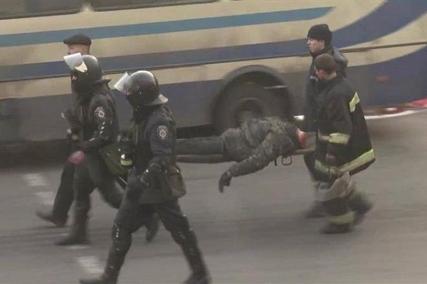A picture depicting an unidentified dead body went viral on social networks / Photo from facebook.com/butusov.yuriy