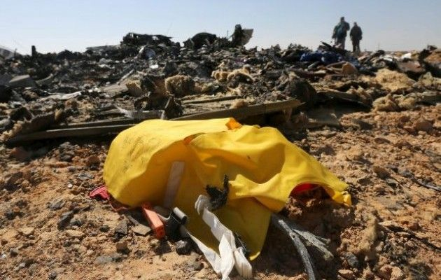 Первые фото и видео с места крушения самолета A321 в