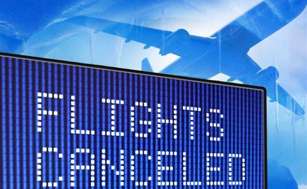 Количество отмененных рейсов достигло 450 \ www.wctv.tv