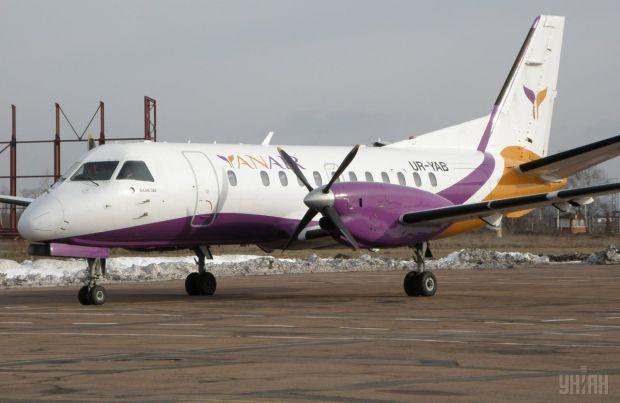 Самолет, приземлившийся в житомирском аэропорту / фото: УНИАН