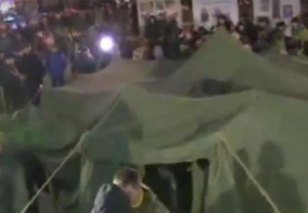 палатка майдан / фрагмент кадра Громадське ТБ